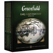 Чай GREENFIELD Гринфилд Earl Grey Fantasy, черный с бергамотом, 100 пакетиков в конвертах по 2 г, 0584-09