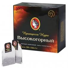 Чай ПРИНЦЕССА НУРИ Высокогорный, черный, 100 пакетиков по 2 г, 0201-18-А6