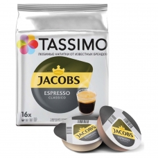 Капсулы для кофемашин TASSIMO JACOBS 'Espresso', натуральный кофе 16 шт. х 8 г