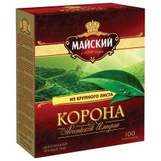 Чай МАЙСКИЙ 'Корона Российской Империи', черный, 100 пакетиков по 2 г, 113159