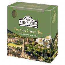 Чай AHMAD Ахмад 'Jasmine Green Tea', зелёный с жасмином, 100 пакетиков по 2 г, 475-012