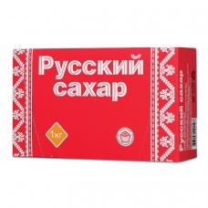 Сахар-рафинад 'Русский', 1 кг 196 кусочков, размер 15х16х21 мм, картонная упаковка