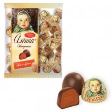 Конфеты шоколадные КРАСНЫЙ ОКТЯБРЬ 'Аленка', крем-брюле, купол, 250 г, пакет, КО08238