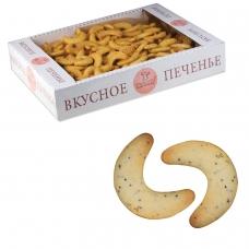 Печенье БИСКОТТИ 'Маковые рогалики', сдобное, 1,5 кг, весовое, гофрокороб