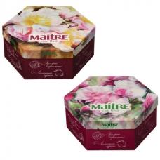 Чай MAITRE Мэтр 'Букет', набор 12 видов, 60 пакетиков в конвертах по 2 г, 120 г, подарочная упаковка, баж003
