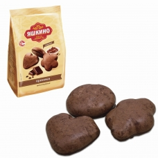 Пряники ЯШКИНО 'Шоколадные', в сахарной и шоколадной глазури, 350 г, ЯП901