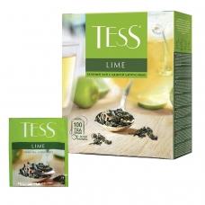 Чай TESS Тесс Lime, зеленый с цедрой цитрусовых, 100 пакетиков по 1,5 г, 0920-09