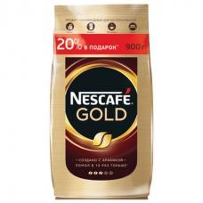 Кофе молотый в растворимом NESCAFE Нескафе 'Gold', сублимированный, 900 г, мягкая упаковка, 12232003