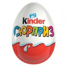 Шоколадное яйцо KINDER Surprise Киндер Сюрприз, в ассортименте, 20 г, 77148592