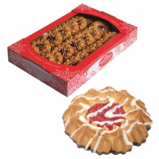 Печенье БЕЛОГОРЬЕ 'Камилла', сдобное в темной глазури с декором, 550 г, 31-03
