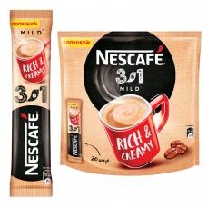 Кофе растворимый NESCAFE '3 в 1 Мягкий', 20 пакетиков по 16 г упаковка 320 г, 12235480