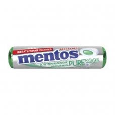 Жевательная резинка MENTOS Pure White Ментос 'Ролл Нежная мята', 15,5 г, 87548