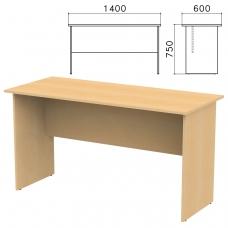 Стол письменный 'Канц', 1400х600х750 мм, цвет бук невский, СК21.10