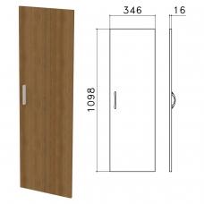 Дверь ЛДСП средняя 'Канц', 346х16х1098 мм, цвет орех пирамидальный, ДК36.9