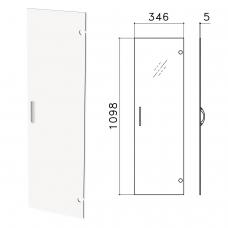Дверь СТЕКЛО, средняя, 'Канц', 346х5х1098 мм, БЕЗ ФУРНИТУРЫ, ДК35