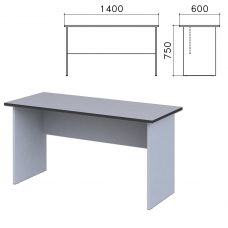 Стол письменный 'Монолит', 1400х600х750 мм, цвет серый, СМ22.11