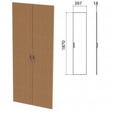 Дверь ЛДСП высокая 'Этюд', комплект 2 шт., 397х18х1870 мм, бук бавария, 400012-55