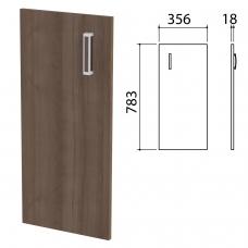 Дверь ЛДСП низкая 'Приоритет', 356х18х783 мм, БЕЗ ФУРНИТУРЫ код 640427, ноче милано, К-936