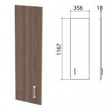 Дверь ЛДСП средняя 'Приоритет', 356х18х1167 мм, БЕЗ ФУРНИТУРЫ код 640427, ноче милано, К-937