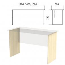 Опоры ЛДСП к столам письменным 'Канц' шириной 1200, 1400, 1600 мм, дуб молочный, СК20, СК20.15.2