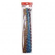 Проволока синельная для творчества 'Блестящая', спираль, 6 цв., 30 шт., 0,6х30 см, ОСТРОВ СОКРОВИЩ, 661528