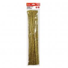 Проволока синельная для творчества 'Блестящая', золотая, 30 шт., 0,6х30 см, ОСТРОВ СОКРОВИЩ, 661541