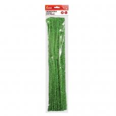 Проволока синельная для творчества 'Блестящая', зеленая, 30 шт., 0,6х30 см, ОСТРОВ СОКРОВИЩ, 661542