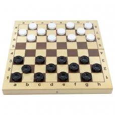 Игра настольная 'Шашки', пластиковые фишки, деревянная доска 30х30, 10 КОРОЛЕВСТВО, 2862