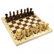 Игра настольная 'Шахматы', 32 деревянные фигуры, деревянная доска 30х30, 10 КОРОЛЕВСТВО, 2845