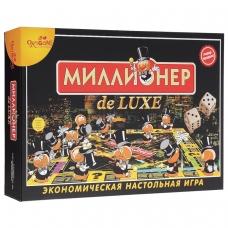 Игра настольная 'Миллионер de LUXE', игровое поле, карточки, банкноты, жетоны, ORIGAMI, 01828