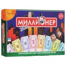 Игра настольная 'Миллионер Elite', игровое поле, банкноты, жетоны, акции, полисы, ORIGAMI, 00111