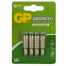 Батарейка GP Greencell AAA R03 24S солевая, BL4
