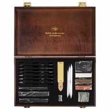 Набор графических материалов ГАММАСтудия, 31 предметов, в деревянном коробе, 0909214
