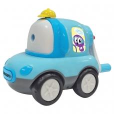 Точилка механическая ЮНЛАНДИЯ Машина Юнландика, корпус голубой, для чернографитных и цветных карандашей, 228479