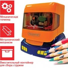 Точилка механическая ПИФАГОР Грузовик, корпус оранжевый, 228488