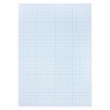Бумага масштабно-координатная (миллиметровая), планшет А4, голубая, 20 листов, 80 г/м2, STAFF, 113490
